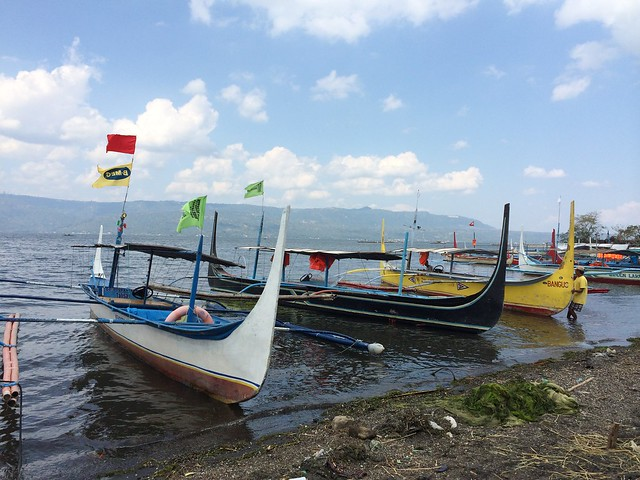Boats at Taal Volcano Island
