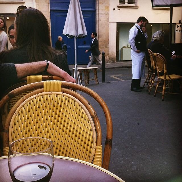 Scene from a café.