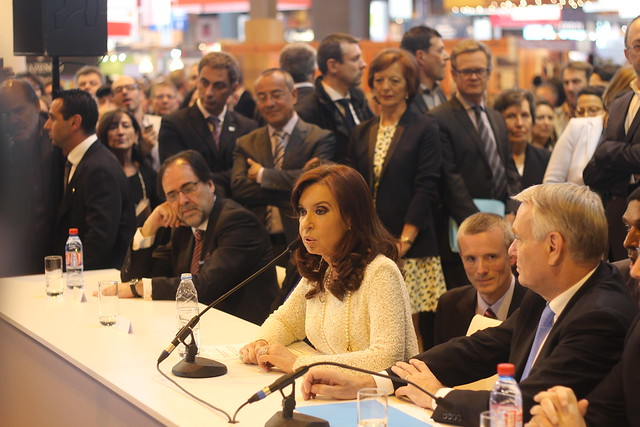 Cristina Fernández de Kirchner et Jean-Marc Ayrault