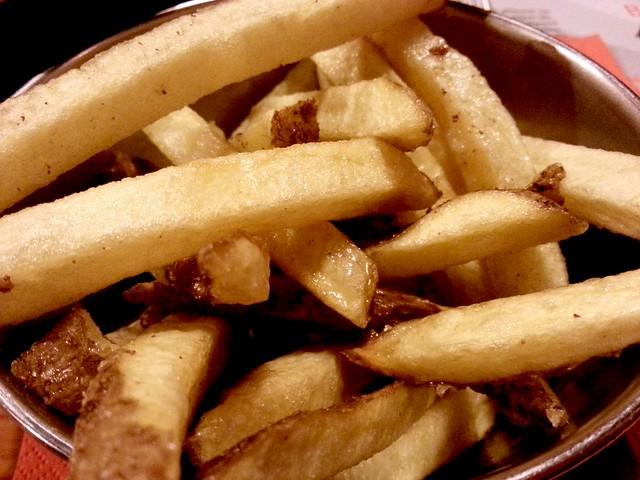 patatas fritas la muscle muscleria barcelona restaurante