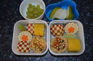 Bacon & Mushroom Mini Quiche Bento