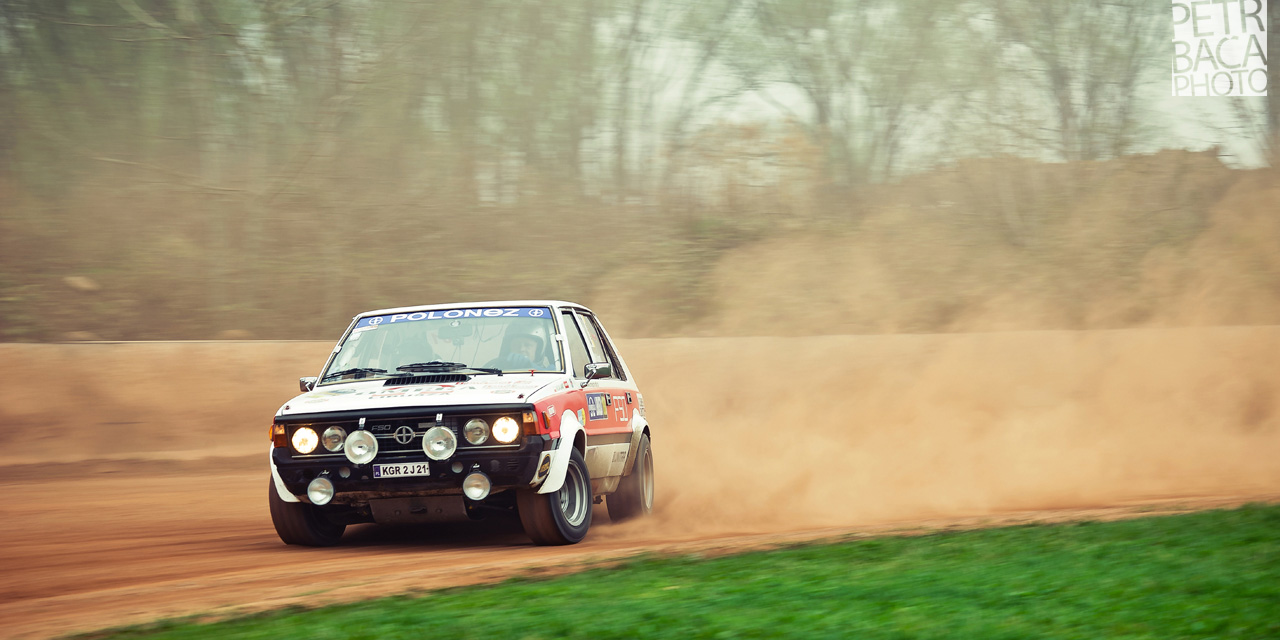 Rallye Praha Revival 2014, RPR, Eda Patera, Chabařovice, plochá dráha, FSO Polonez 2000 Rally,
