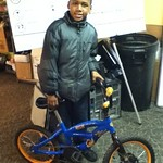 Jeremiah showing off his Earn-A-Bike
