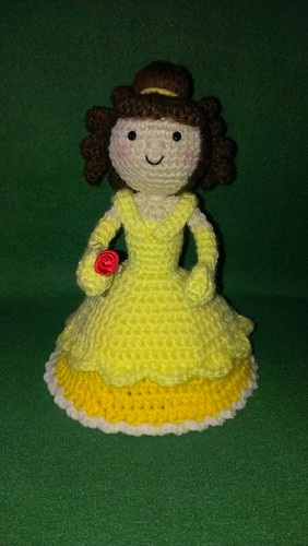 crochet Amigurumi doll - Disney's Belle
