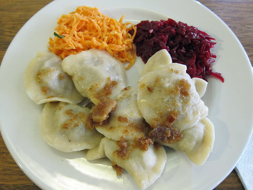 Mixed Pierogi (Sauerkraut + Mushroom and Meat