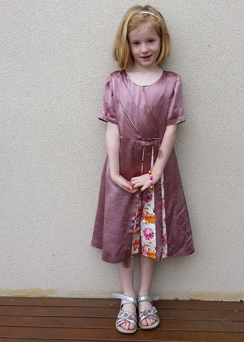 Clever Charlotte Olivine dress for Stella's 7th birthday