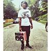 "@MikeFlorbg of Dead Prez sporting his custom ""Bandana"" BoomCase in Red Green and Black - #BoomCase #DeadPrez #hiphop"