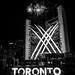 Fireworks at Toronto City Hall (B&W) by hc916