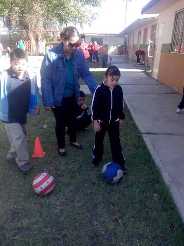 Practicando deporte