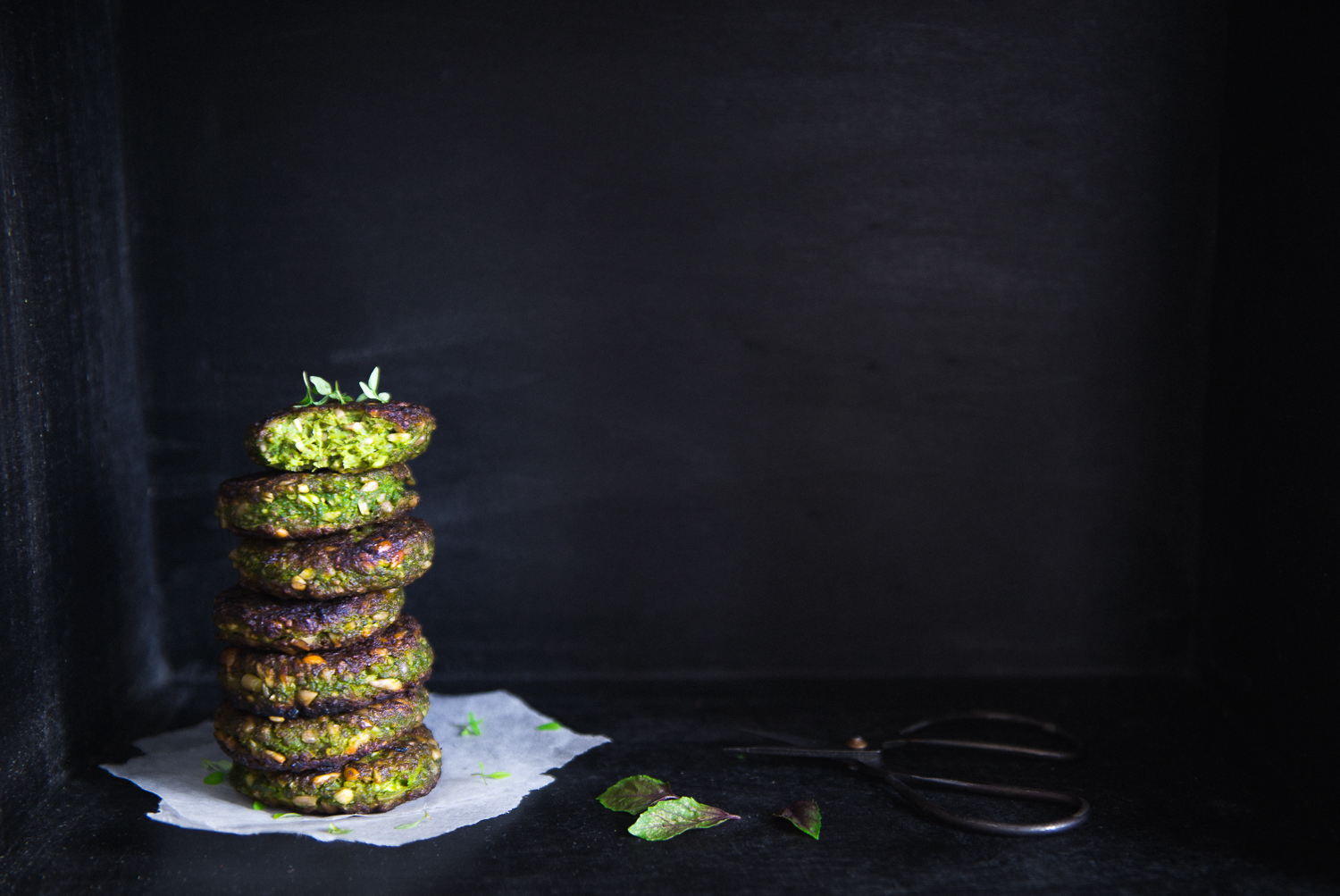 Super Green Pea & Sunflower Patties | Cashew Kitchen