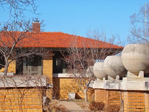 wichita kansas usa 2016 february roadtrip february2016 allenlambehouse house architecture prairiestyle franklloydwright