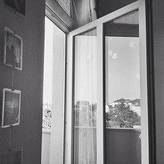 Open balcony door.