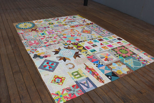 Belinda's quilt from the upper right.