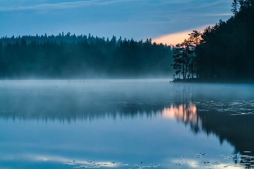 lake water landscape evening photo woods forrest sweden sverige virå södermanlandslän virlången