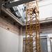 Een torenkraan in het museum