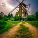 Old mill at dusk by Henrik Godsk Hansen