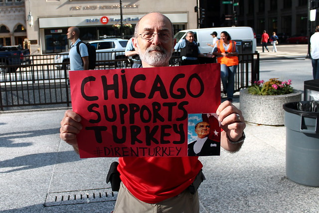 Turkish rally in Chicago, IL