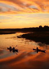 Kayak on the Quaboag River at Sunset