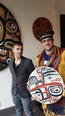 Senior art consultant Todd Tregilges and Tsimshian artist David R. Boxley