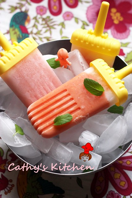 木瓜冰棒 Papaya Popsicle 5