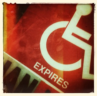 My disabled parking tag