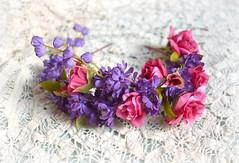 Floral Crown Hot Pink & Purple