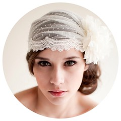 Dotted Bridal Cap