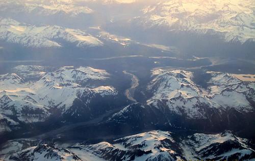 Above Chilkat River/Tsirku River, east Alaska