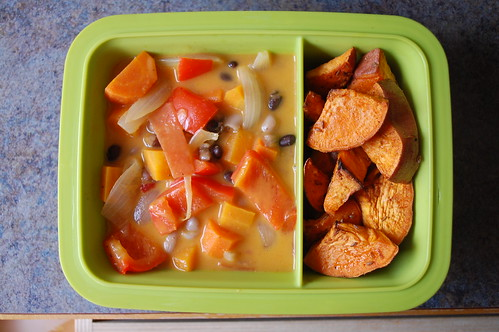 veggie curry and sweet potato vegan gluten free bento