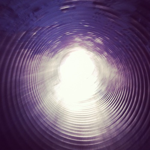 The inside of the industrial pipe slide