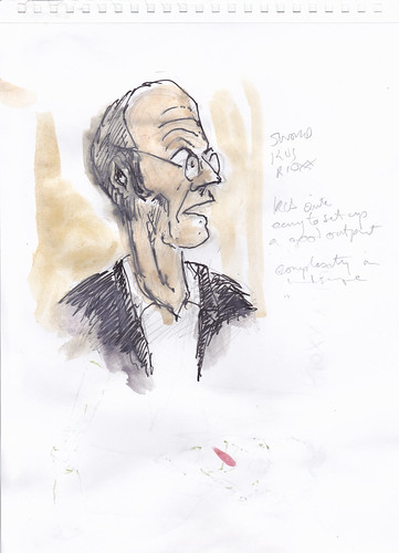 Sketch of Pablo de Castro at Repository Fringe