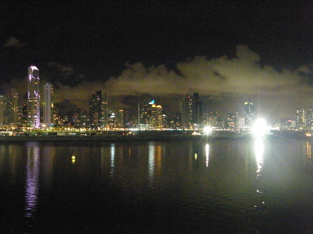Panama City at Night, from Casco Viejo