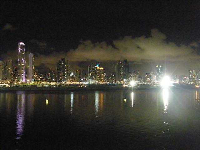 Panama City at Night, from Casco Viejo