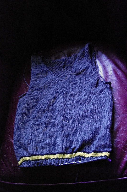 Hufflepuff Sweater Progress