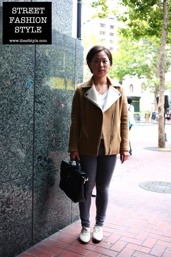 mulberry satchel, shearling jacket, woven suede shoes, street fashion style, san francisco fashion blog, streetstyle,