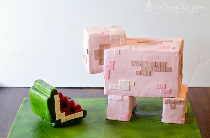 minecraft-cake-tutorial-watermelon