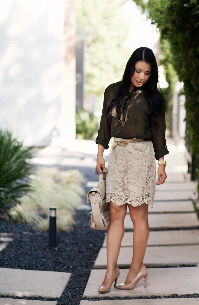 Army Green + Lace - cute   little  773ac6058