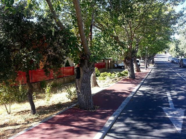 Carril bici en Las Matas