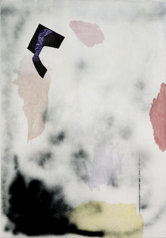 CHRISTINA CHIRULESCU o.T, Öl, Sprühlack auf Lw, 100x70cm,2013