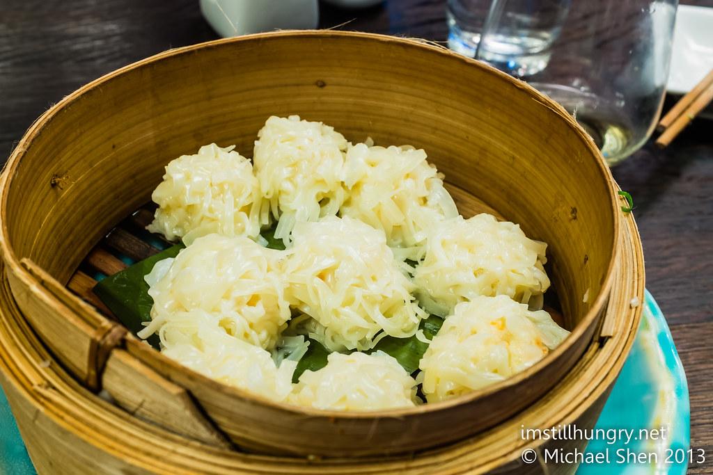 Steamed prawn dumplings: Chinese-inspired shumai with spicy ponzu Sake Restaurant