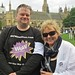 Rick B and Jane of the WOW Petition at the 10,000 Cuts and Counting protest