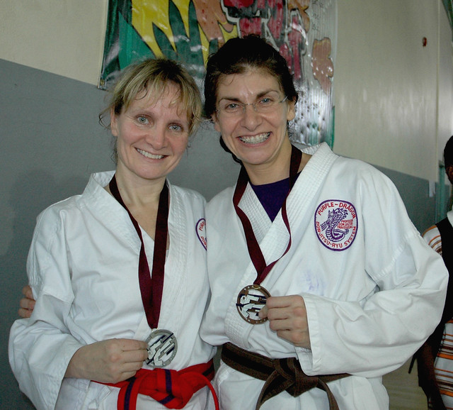 20081129 Competition Medals Ute & Ioanna cropped