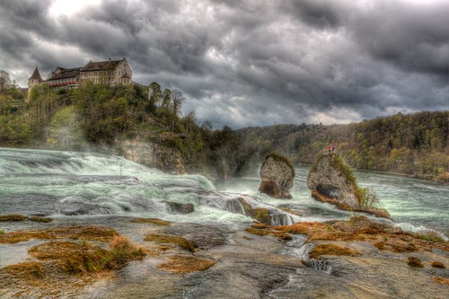 Rheinfall in Clouds