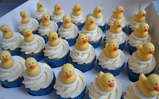 Yellow duck mini cupcakes