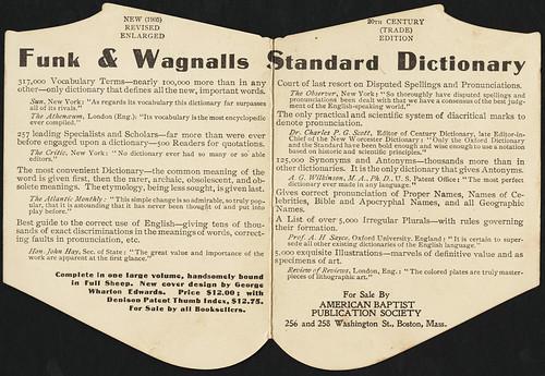 Standard Dictionary, twentieth century edition. [inside]