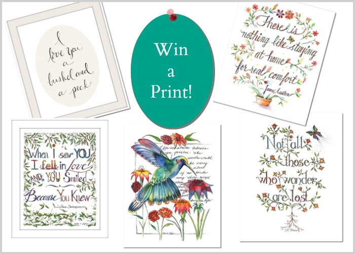 win a print from lori plyler art