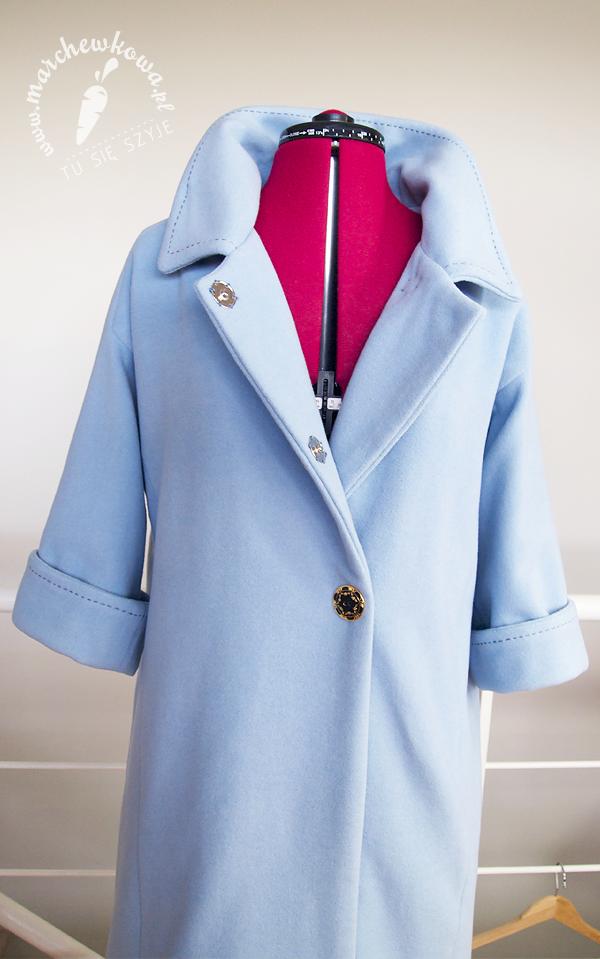 blog, moda, szycie, krawiectwo, sewing, wykrój, pattern, Burda, retro, vintage, 50s, 60s, płaszcz, Jackie Kennedy Style Coat