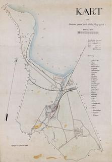 Kart over Ranheim gaard med cellulosefabrik og teglverk (1900)