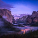 Yosemite Valley - Twilight Fog by Darvin Atkeson