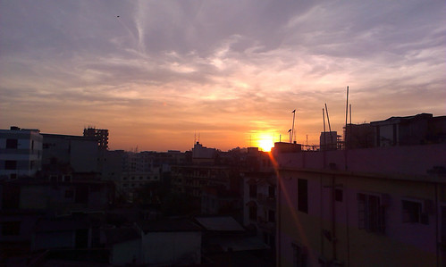 morning sunset sky sun mist beautiful sunrise sunny dhaka bangladesh